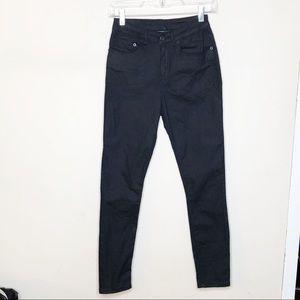 Ksubi Hi Waisted Spray On Skinny Jeans Black Sz 26
